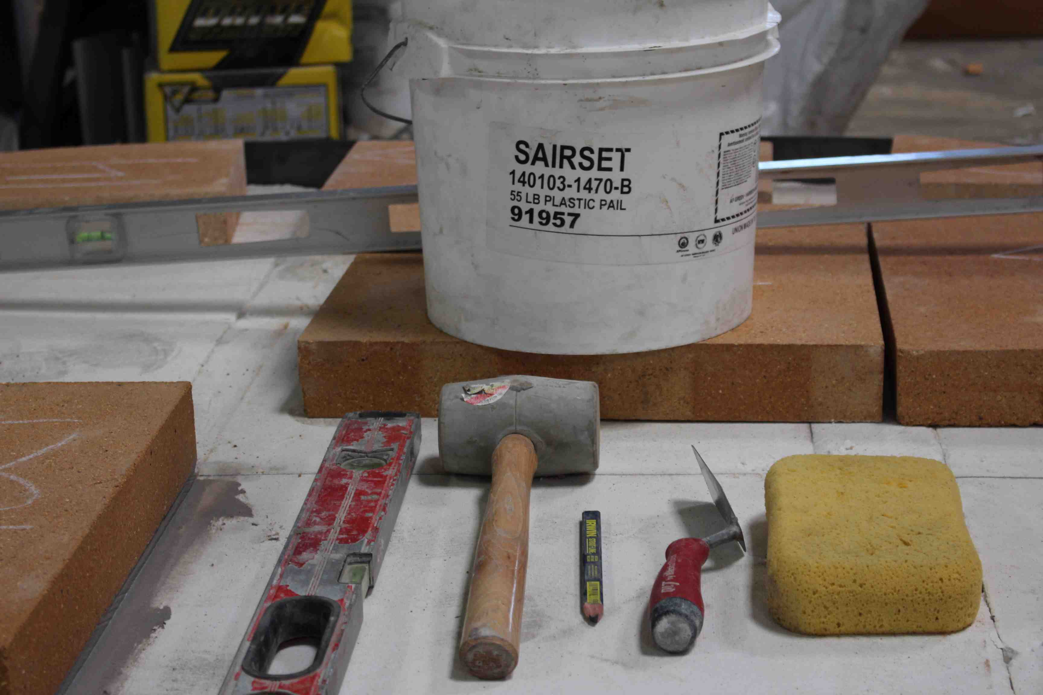 How To Install A Forno Bravo Floor Using Sairset Or Mortar